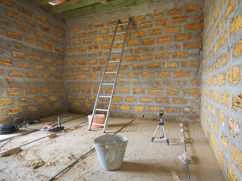 Repair in room. Element of design.